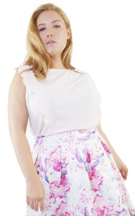 Peach Frill Top Curve by Wolf & Whistle