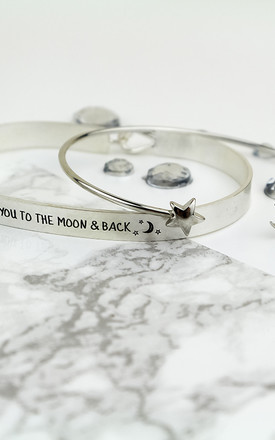 I Love You Moon And Star Bangle Set by Arcus Accessories