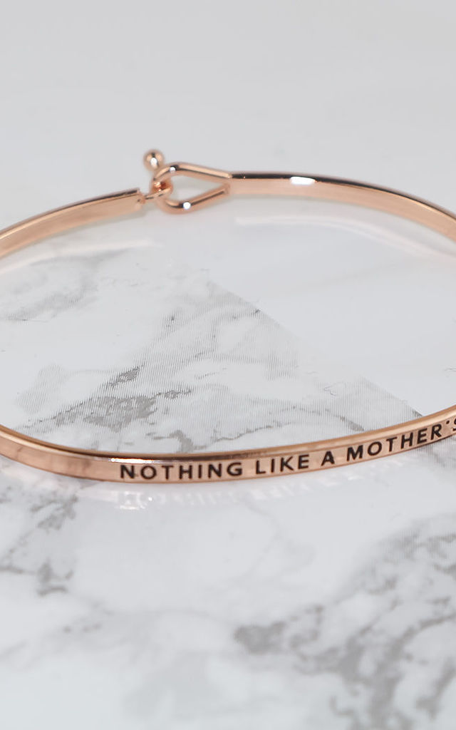 Rose Gold Mothers Love Thin Bracelet by Arcus Accessories