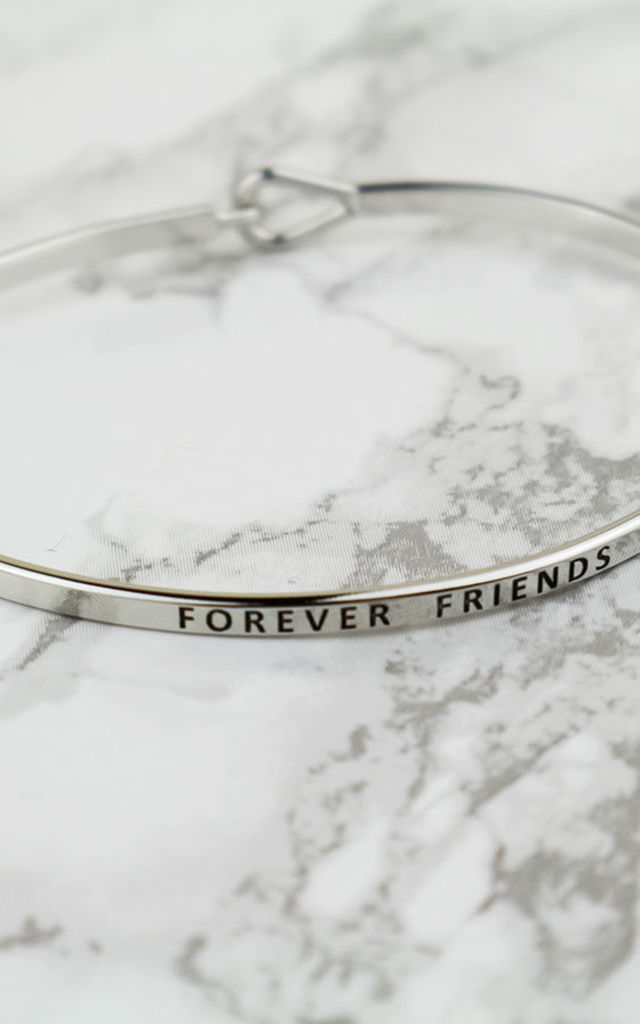 Silver Forever Friends Thin Bracelet by Arcus Accessories