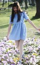Blue Gingham Smock Dress by Vintage Style Me