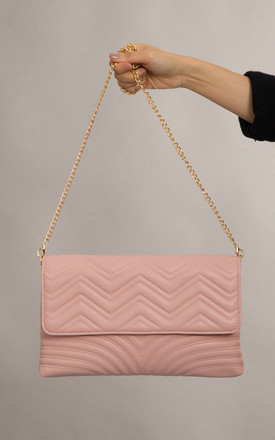 Lottie Soft Faux Leather Clutch In Pink by KoKo Couture
