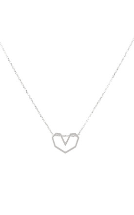 Sterling Silver Heart Necklace by DOSE of ROSE
