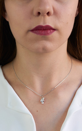 Cactus Pendant In White Gold by DOSE of ROSE
