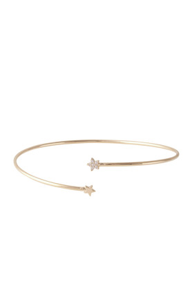 Tiny Star Cuff Gold by DOSE of ROSE Product photo