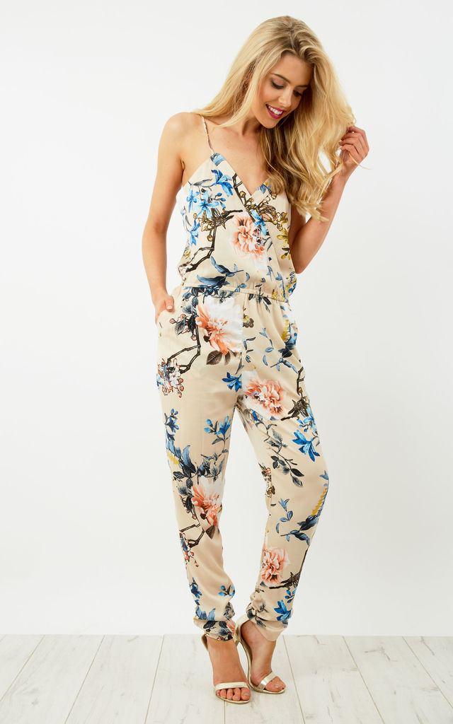 Floral Crossover Jumpsuit by Oeuvre