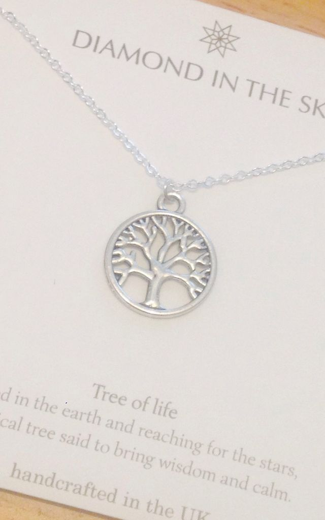 Tree Of Life Necklace Gift Card by Diamond in The Sky