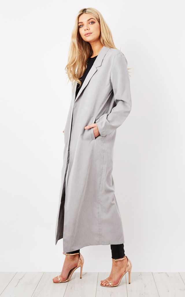 Longline Grey Crescent Blazer by Native Youth