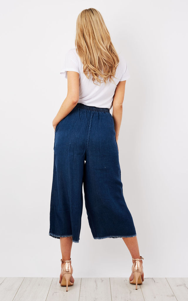 Blue Stream Tencel Culottes by Native Youth