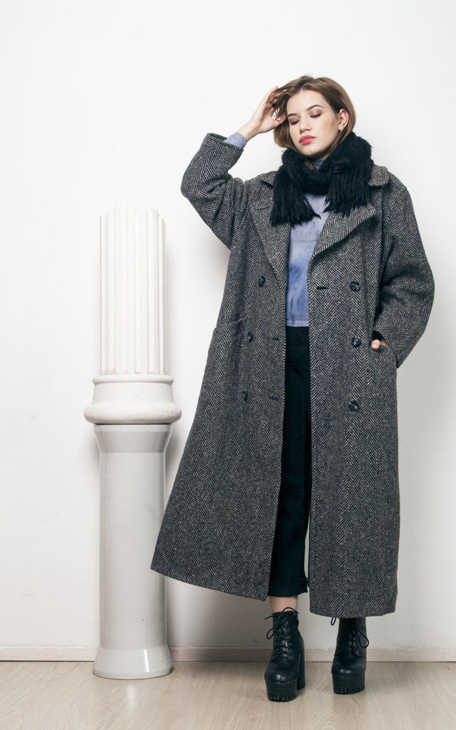 80s vintage wool winter coat by Pop Sick Vintage