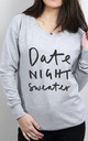 Date Night Scoop Neck Sweater by Letter Clothing Company