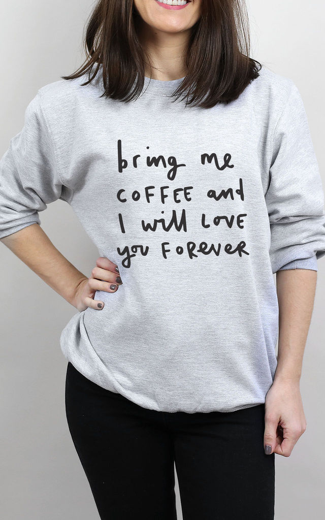 Bring Me Coffee Sweater by Letter Clothing Company