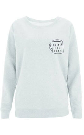 Coffee For Life Scoop Neck Sweater by Letter Clothing Company