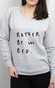 Rather Be in Bed Scoop Neck Sweater by Letter Clothing Company