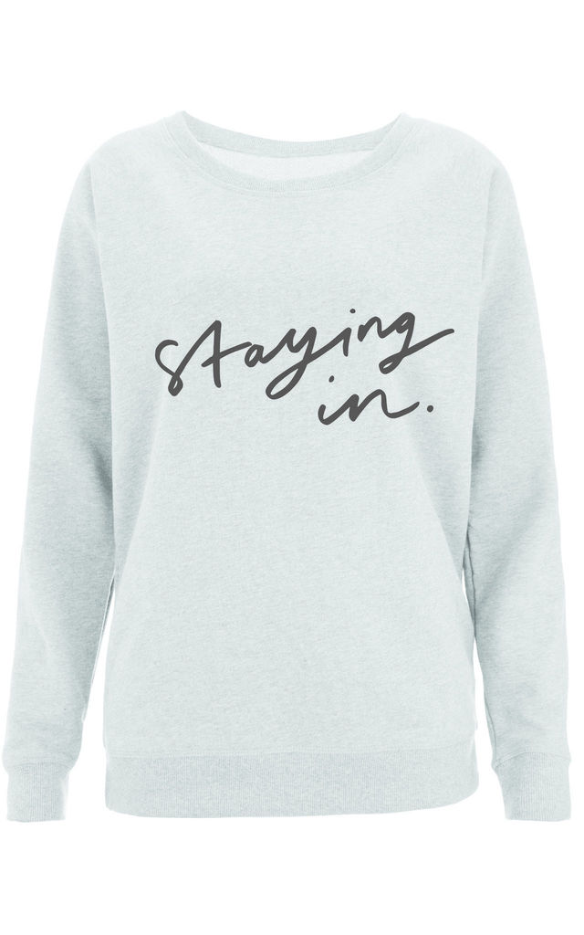 Staying in Scoop Neck Sweater by Letter Clothing Company