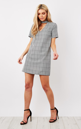 Dogtooth Choker Shift Dress by Bella and Blue