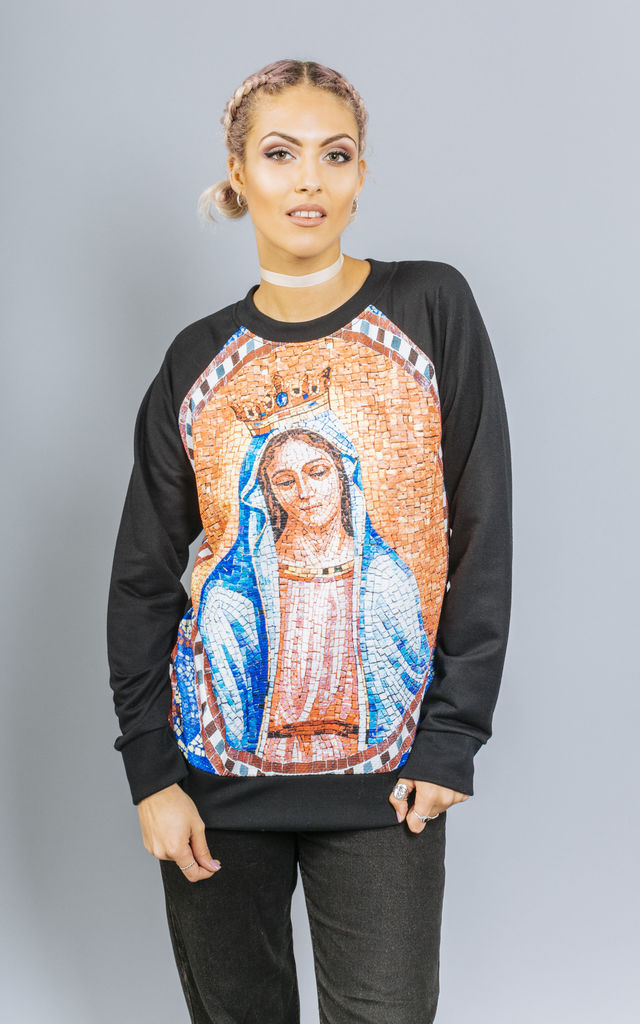 Holy Moly Mary Sweatshirt by Material Gal