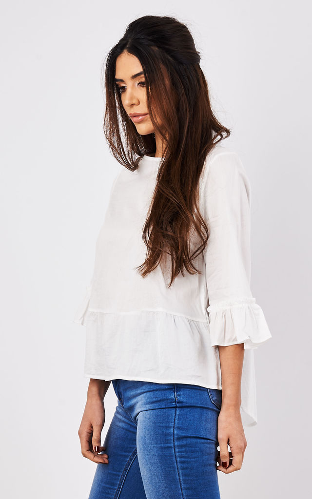 Lace Open Back Top by Lily and Carter London