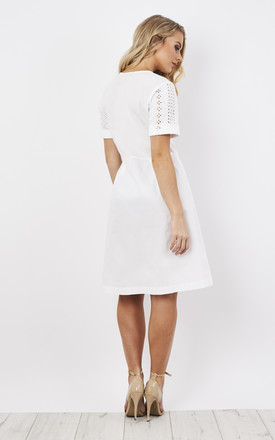 White Crochet Dress by Lily and Carter London