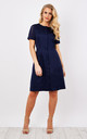 Navy Crochet Dress by Lily and Carter London