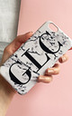 Monogram Marble print phone case - large initials by Rianna Phillips