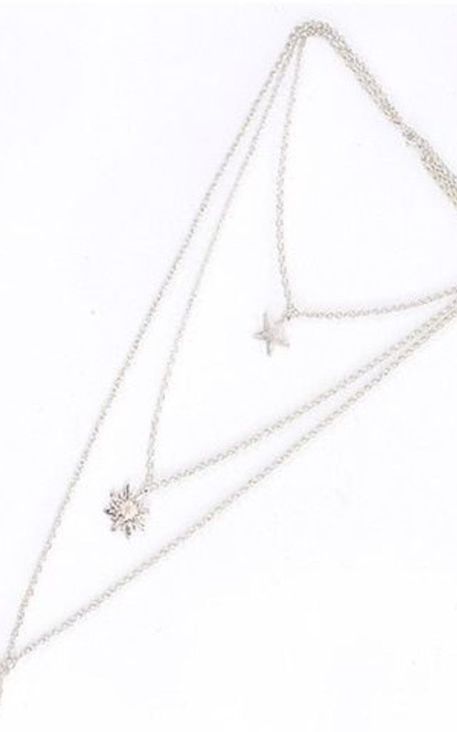 Bellatrix Moon And Stars Necklace by Kiki Belle
