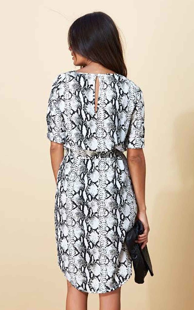Chiquita Dress in Black and White Python image
