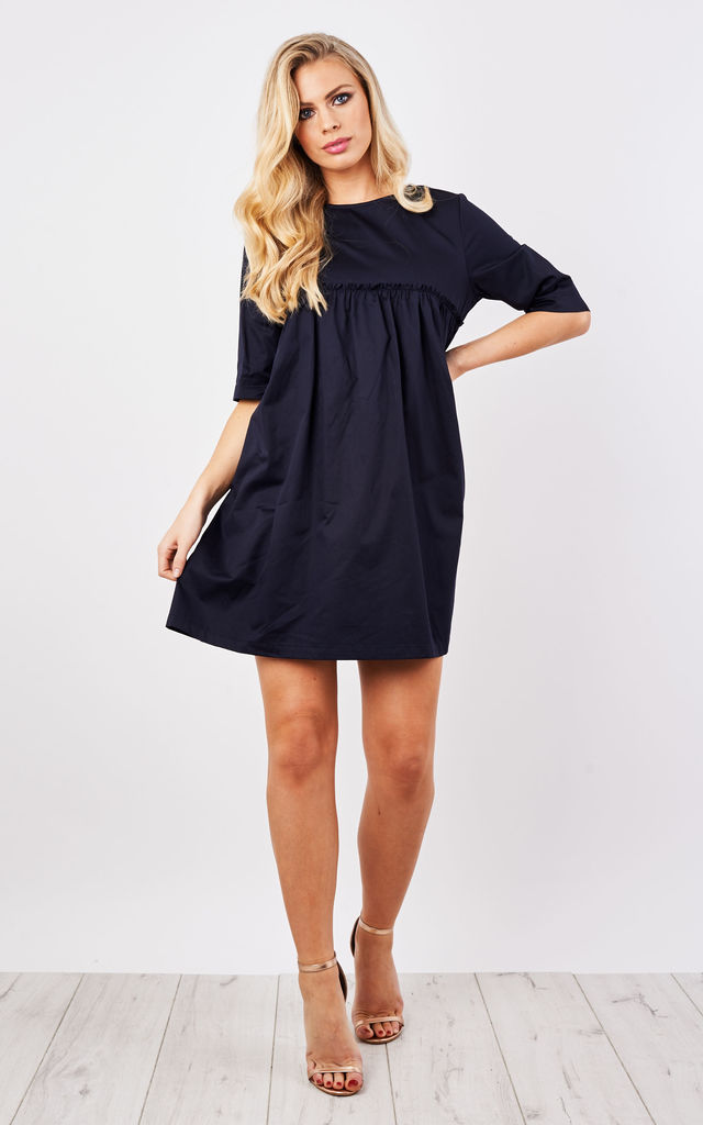Paper Bag Smock Dress by Lily and Carter London