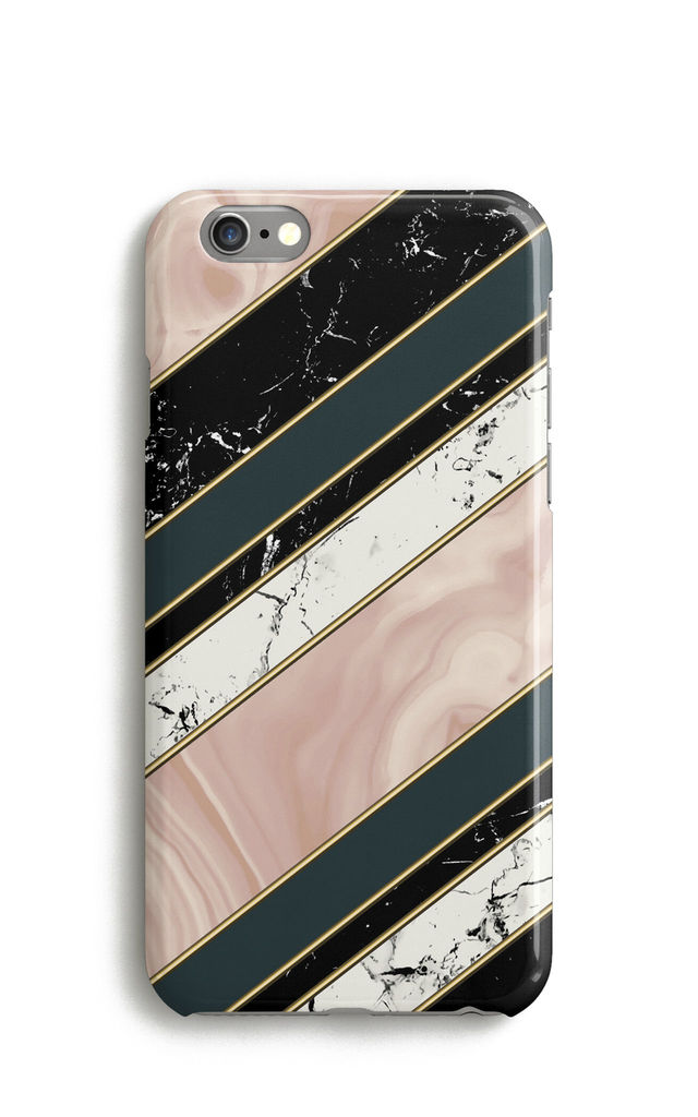 Stripes Phone Case with Agate Marble Pattern by Harper & Blake