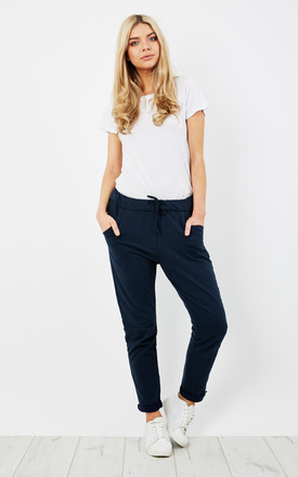 NAVY JOGGER STYLE TROUSERS by Aftershock London