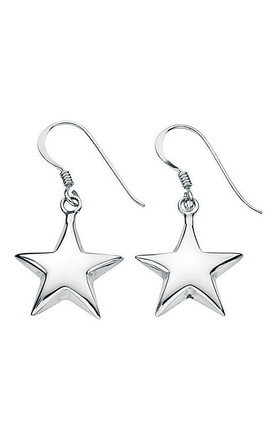 Small puffed star Sterling Silver earrings by VAVOO