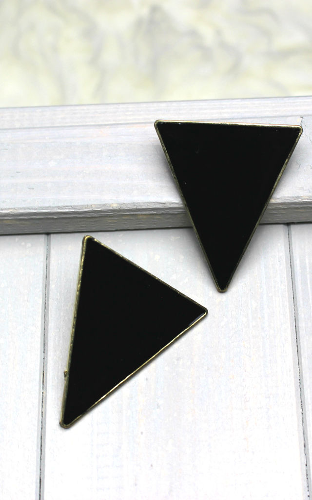 Large Triangle Earrings by HAUS OF DECK