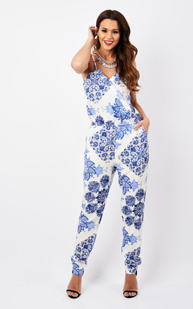 China Plate Printed Jumpsuit by Oeuvre Product photo