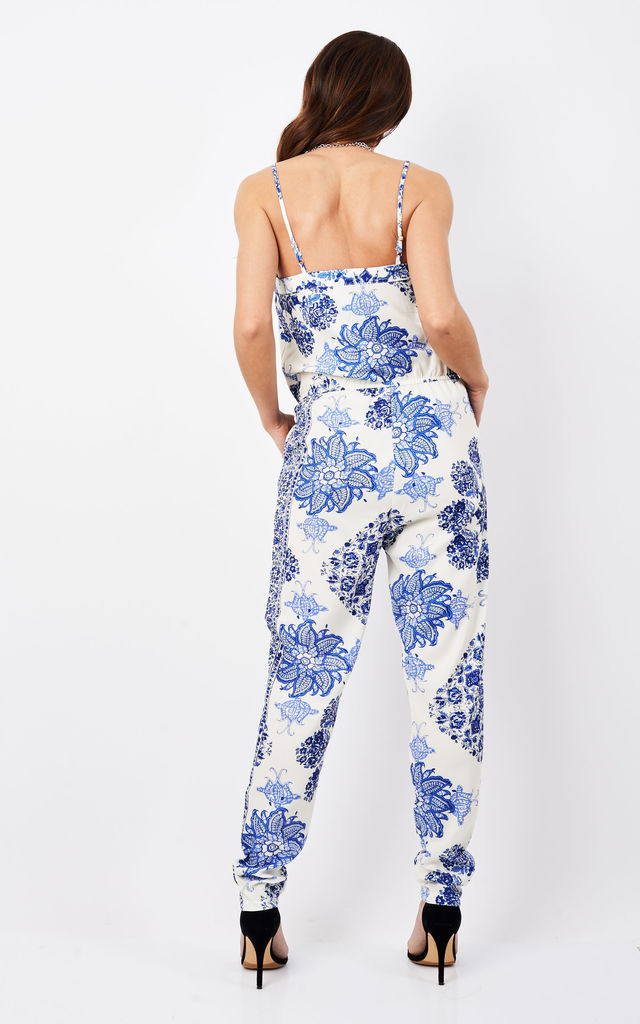 China Plate Printed Jumpsuit by Oeuvre