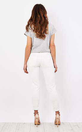 White Ripped Jeans by Glamorous