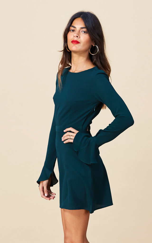 Madigan Dress in Forest Green image