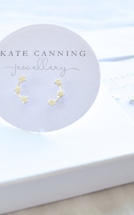 Three Star Climber Earrings by Kate Canning Jewellery