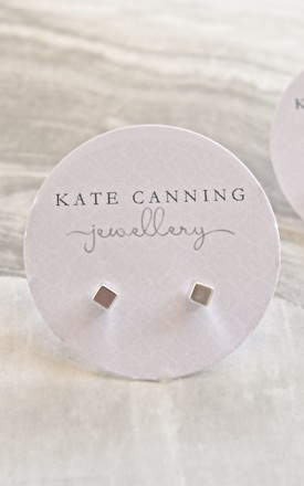 Cube Stud Earrings by Kate Canning Jewellery