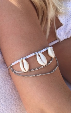 shell beaded bracelet, anklet by Lovelock jewels