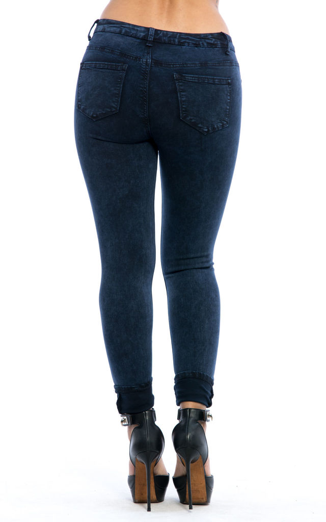 Mid Rise Slim Fit Textured Denim Jeans by Npire London