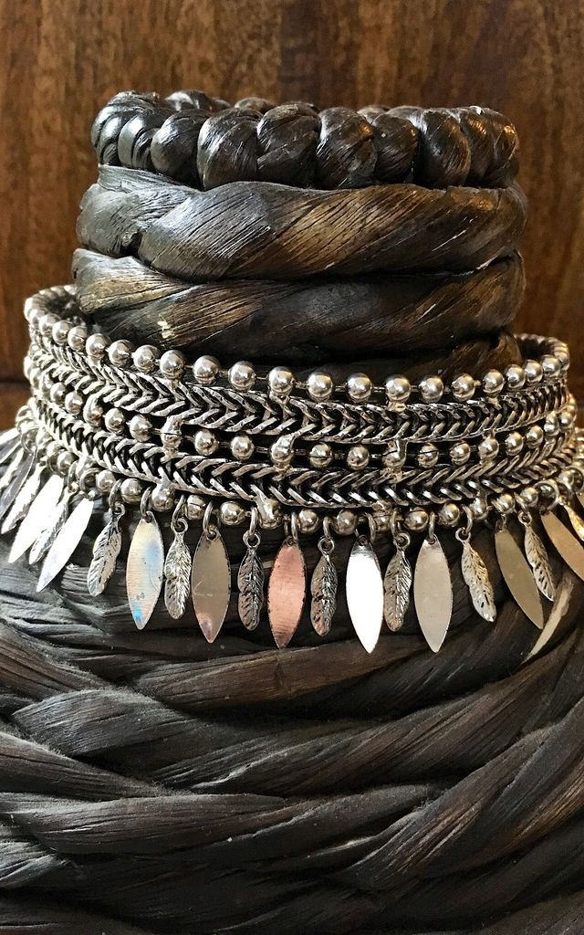 Silver feather statement choker by Lovelock jewels