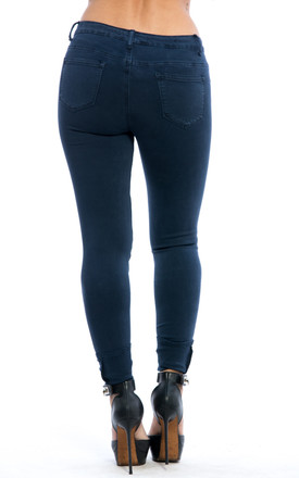 Mid Rise Slim Fit Denim Jeans – Blue by Npire London