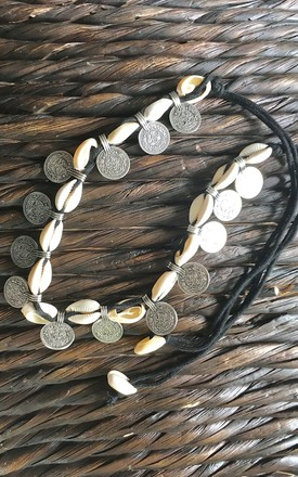 Mermaid shell and coin necklace by Lovelock jewels