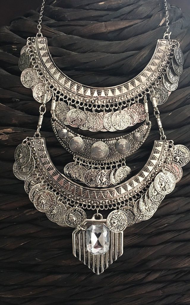 Multi later crystal statement necklace by Lovelock jewels