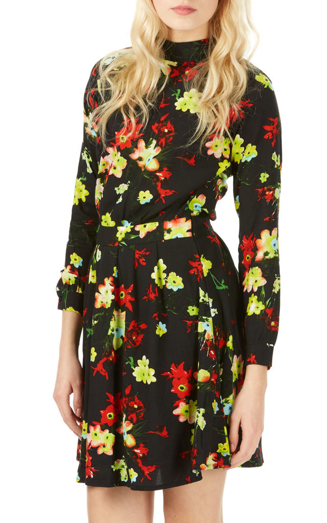 70's Dress Rose Hip Black by Ruby Rocks