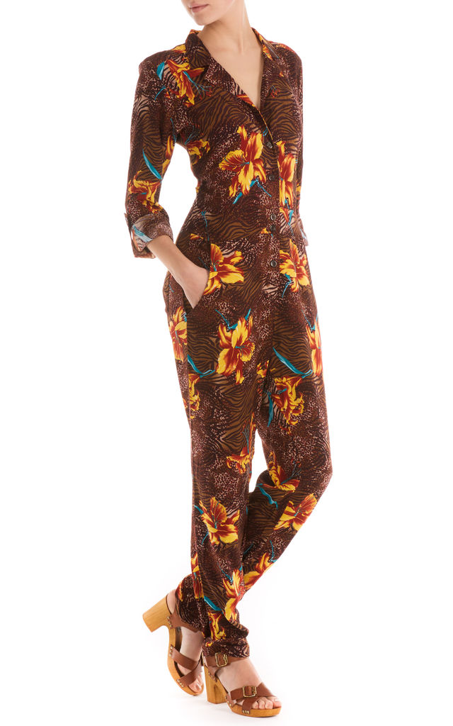 Work it Jumpsuit Tigerlilly Brown by Ruby Rocks