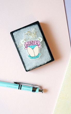 Wonder Thighs Acrylic Charm Necklace by House Of Wonderland