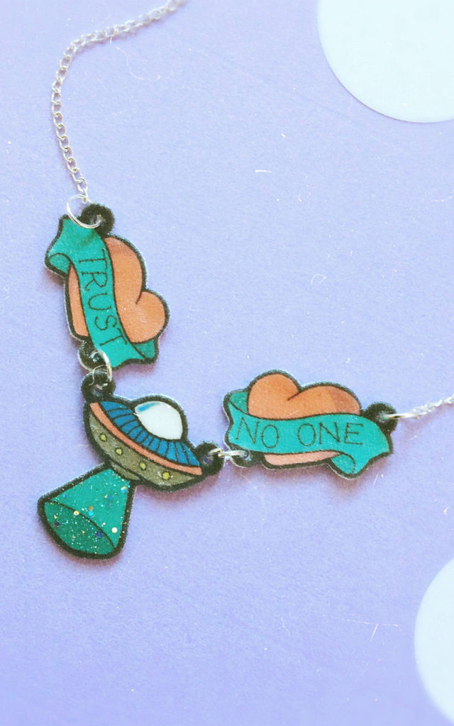 Trust No One Charm Necklace by House Of Wonderland