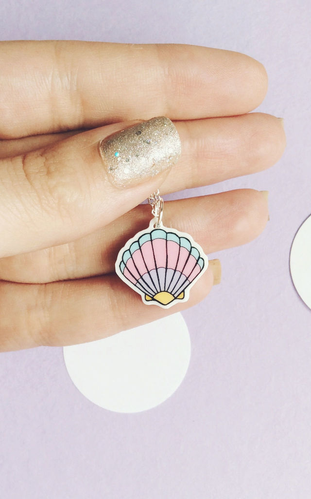 Pastel Shell Charm Necklace by House Of Wonderland