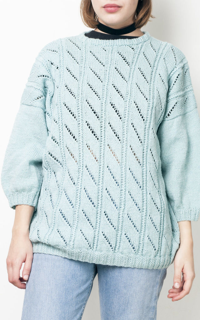 80s vintage mint knit jumper by Pop Sick Vintage
